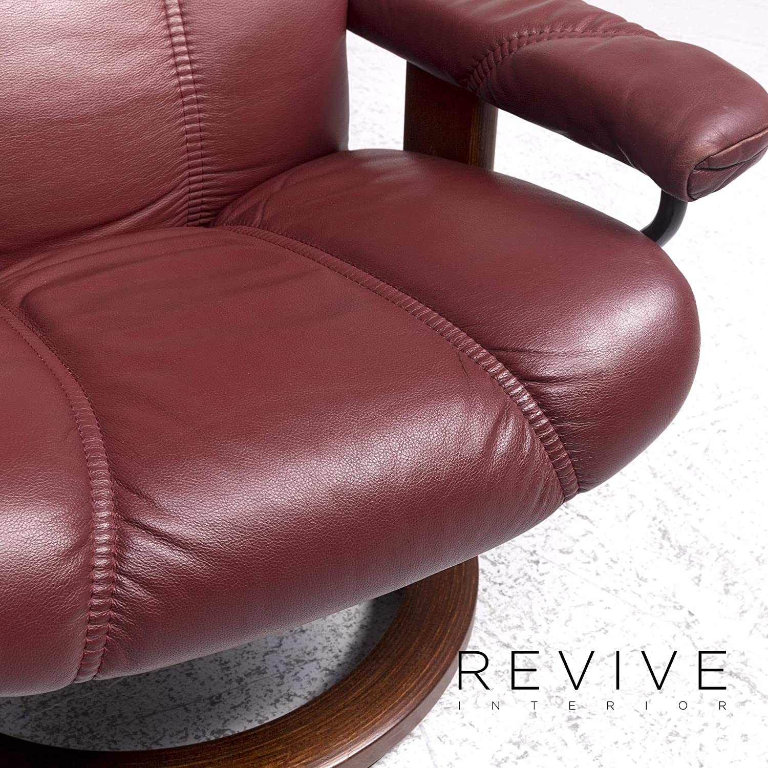 Stressless Consul Designer Leather Armchair Red Relax ...