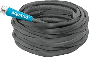 Aqua Joe AJFJH100-58-PRO FiberJacket Non-Expanding Kink-Free Garden, RV and Camper Hose, 100-Foot x 5/8-Inch