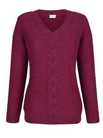 MONA Damen Pullover aus Reiner Alpakawolle Wärmend