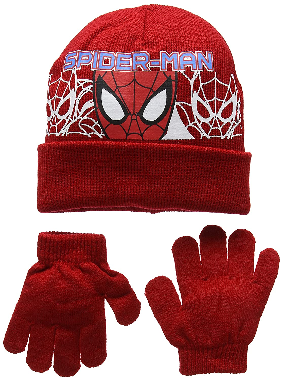 DC Comics Jungen Mütze   Handschuh-Set Spiderman Headcut  Amazon.de   Bekleidung 2bb1e01b43a4