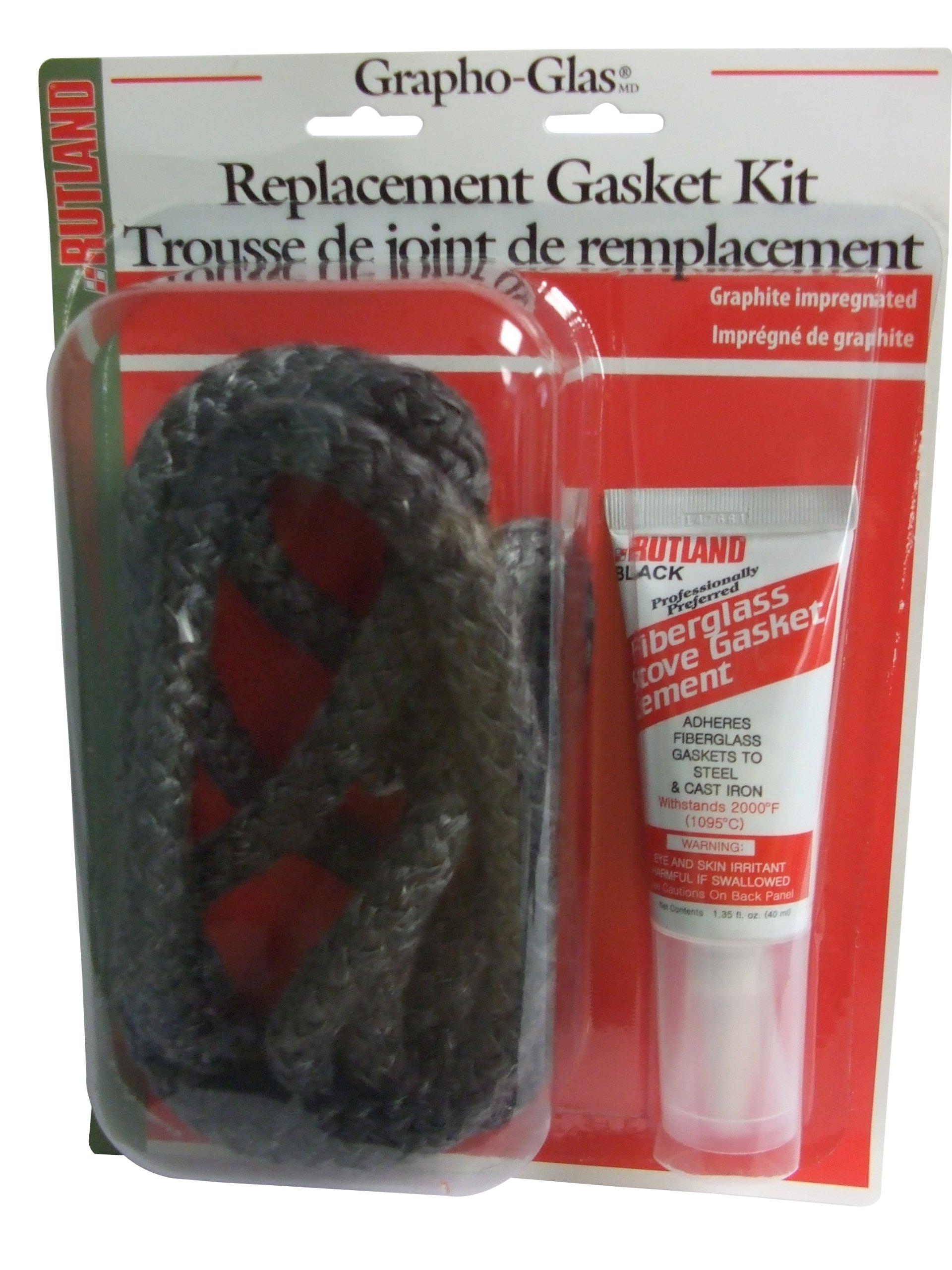 Rutland Grapho-Glas Gasket Pellet Stove Rplmnt Kit-CMT & 3/4'' X7' Rope by Rutland Products