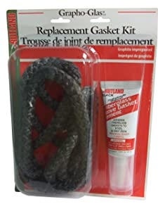 """Rutland Products Rutland 96-6 Grapho-Glas Rope Gasket Replacement Kit, 3/8-Inch by 7-Feet, 3/8"""" X7', Black"""