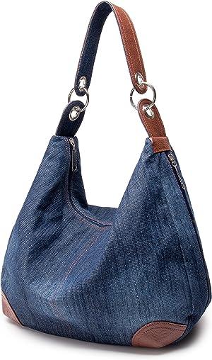 Women's Handbag Purse Hobo Tote Top Handle Shoulder Crossbody Bags Denim