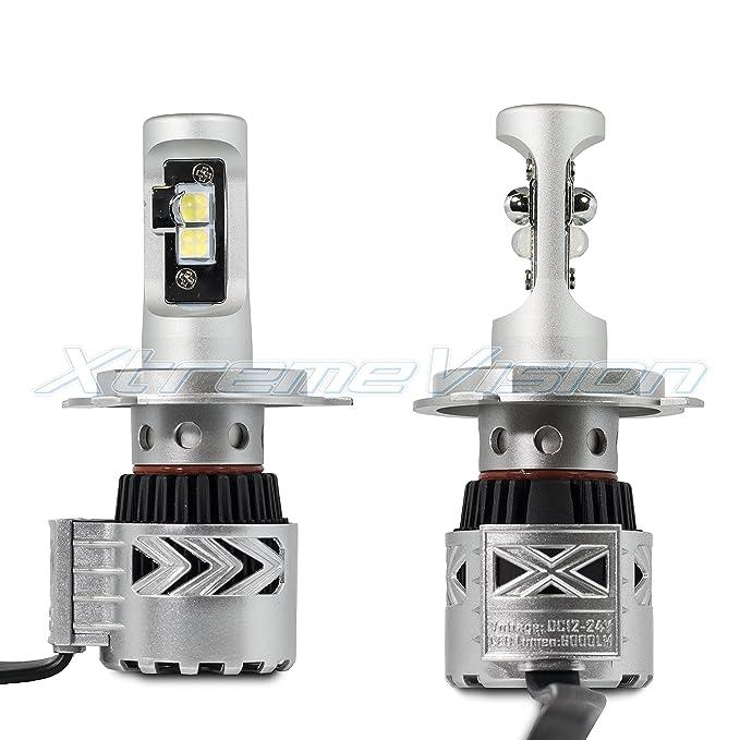 Amazon.com: XtremeVision 8G 72W 12,000LM LED Bulb - H4/9003 Dual Beam LED Headlight Kit - 6500K XHP50 CREE LED: Automotive