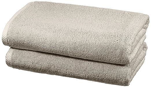 28 opinioni per AmazonBasics- Set di asciugamani ad asciugatura rapida, 2 pezzi, 2 teli bagno-
