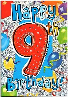 Birthday Card For Nine 9 Year Old Boy