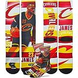 Cleveland Cavaliers Youth Size Pro Stripe NBA Crew Kids Socks (4-8 YRS) 1 Pair - Lebron James #232