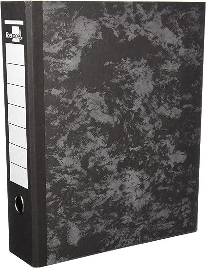 Oferta amazon: Archivador De Palanca Liderpapel Folio Carton Forrado Sin Rado Lomo 80Mm Negro Compresor Metalico