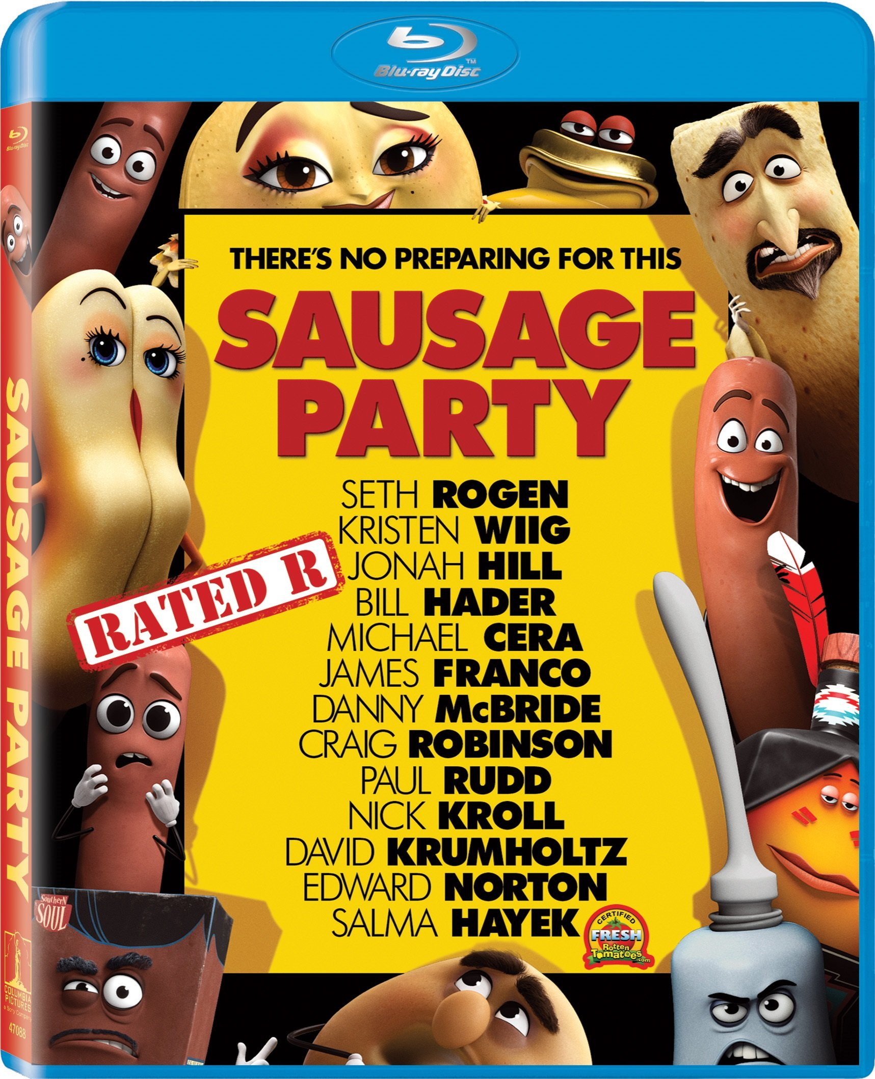 Blu-ray : Sausage Party (Ultraviolet Digital Copy, , Dubbed, Dolby, AC-3)