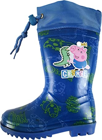 Botas de Agua Infantil George Peppa Pig para niños Color Azul Talla 29