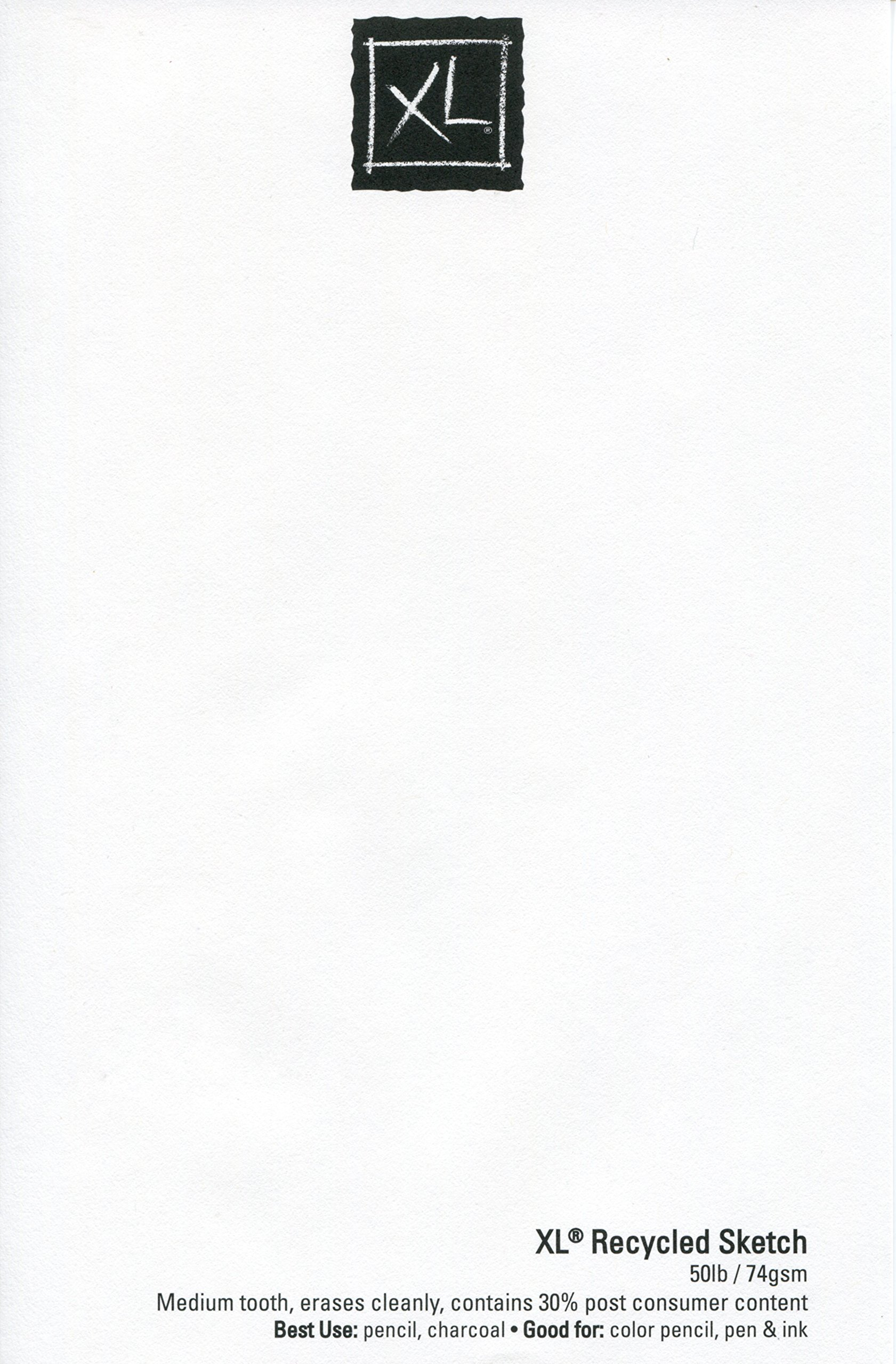 Canson XL Series Recycled Paper Sketch Pad, Side Wire Bound, 50 Pound, 9 x 12 Inch, 100 Sheets by Canson (Image #4)