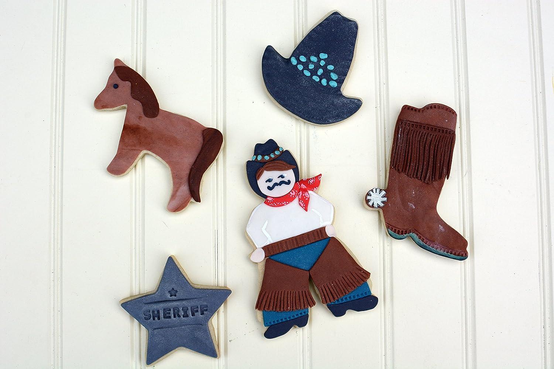 Star Boot Hat 5-Piece Set Horse R/&M International 1930 Cowboy Cookie Cutters Cowboy