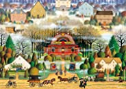 Buffalo Games - Charles Wysocki - Melodrama in The Mist - 300 Large Piece Jigsaw Puzzle
