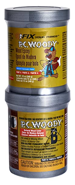 Pc Products 16333 Pc Woody Two Part Wood Repair Epoxy Paste, 12 Oz In Two Cans, Tan by Protective Coating