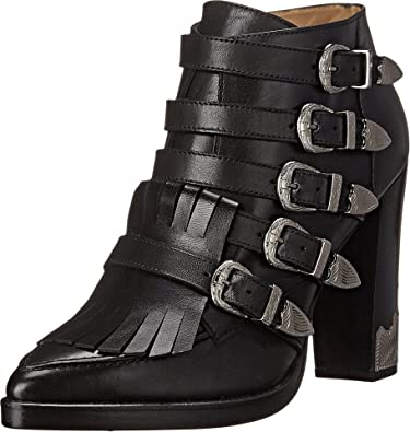 Black Boots Leather Womens
