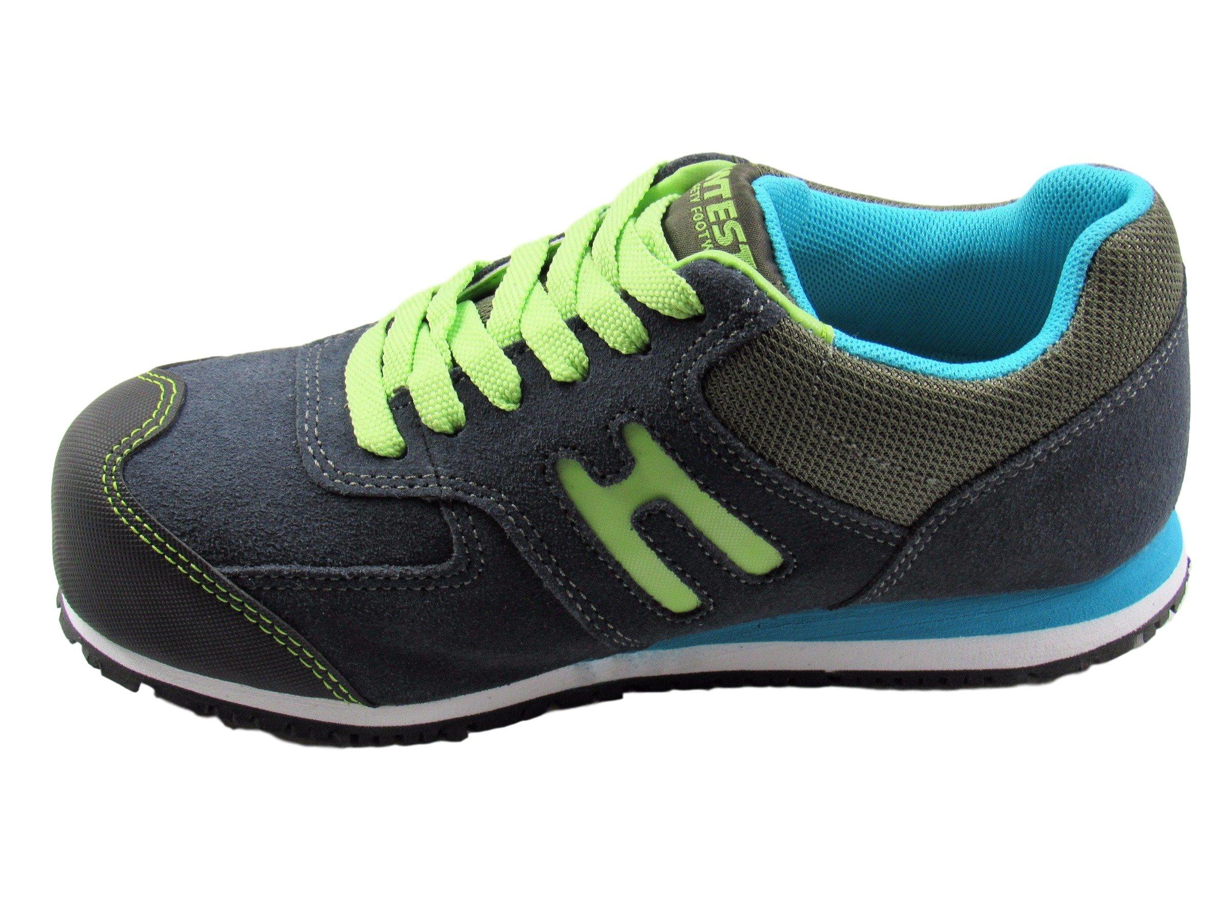 Hytest Women's Athletic Oxford Steel Toe, Electrical Hazard, Slip Resistant Safety Work Shoe (11W US, Navy)