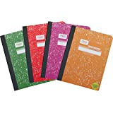 Mead Composition College-Ruled Notebooks with Durable Cover, 100 Sheet, Set of 4 (Fashion Colors)