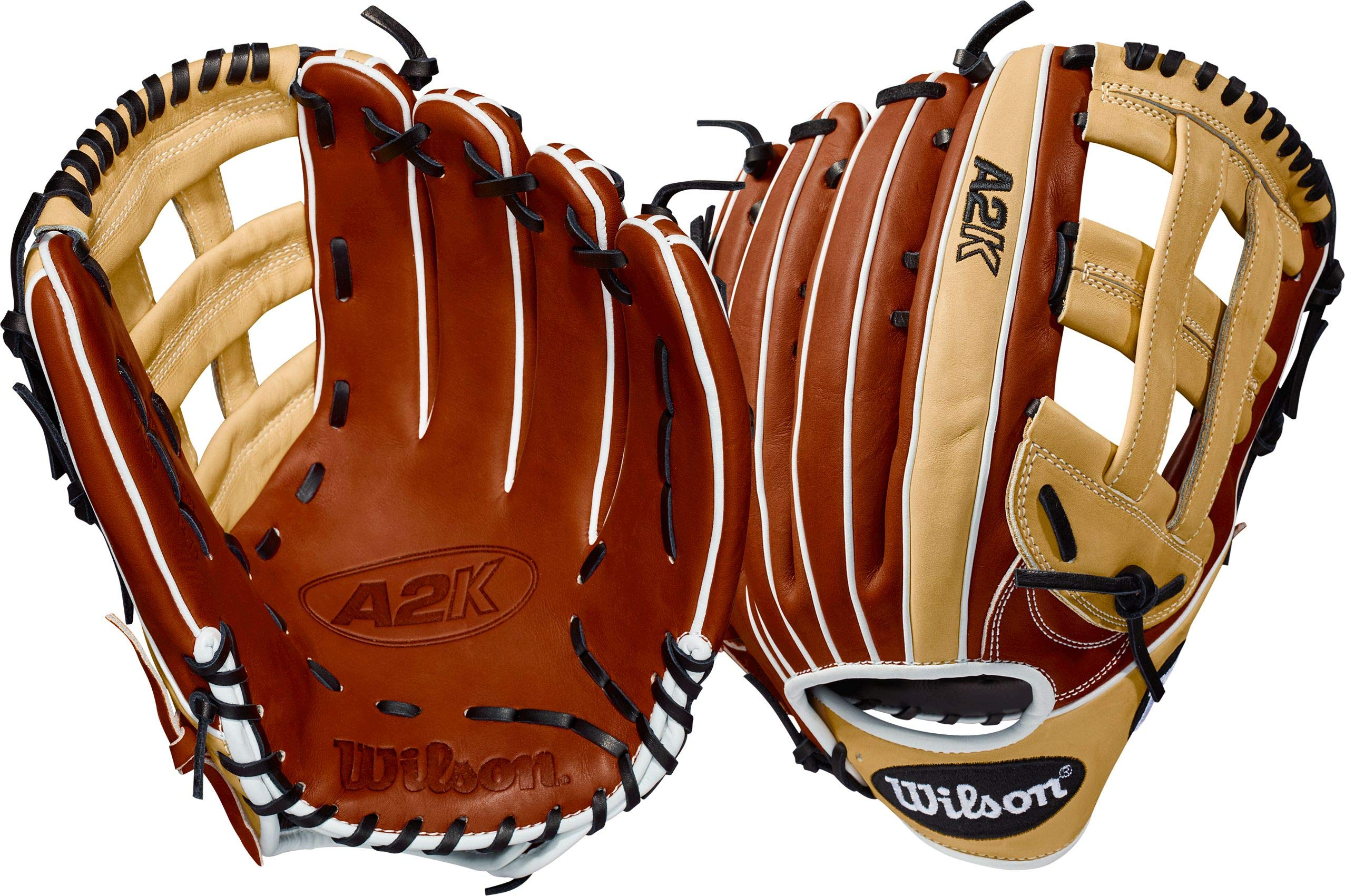 Wilson 2018 A2K 1799 12.75'' Outfield Baseball Glove, Left Hand Throw - Copper/Blonde/White by Wilson
