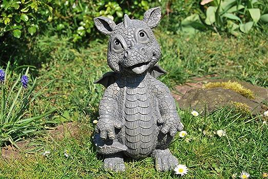 Jardín Dragón mirando hacia arriba Dragón Figura Dragon: Amazon.es: Jardín