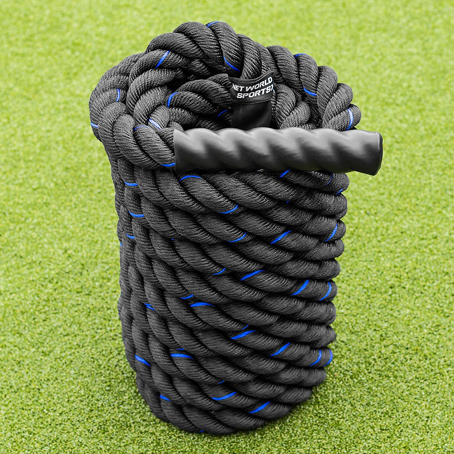 Details about  /30Ft Battle Rope 1.5/'/' Power Rope Exercise Strength Training Workout Undulation