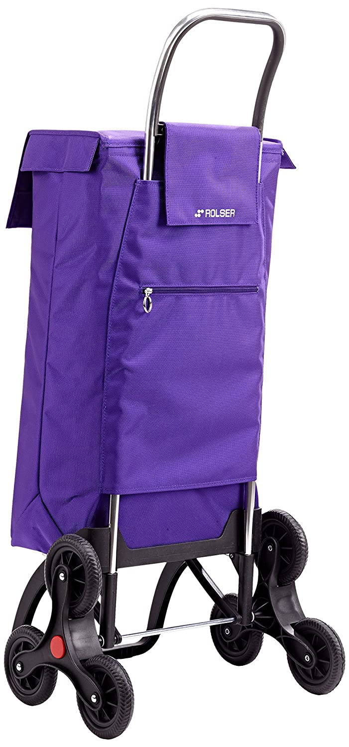 Rolser Paris MF RD6 - Carro de la Compra de 6 Ruedas, Especial escaleras, Color More