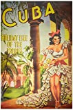 Poster Vintage Reproduction Travel Cuba - Holiday