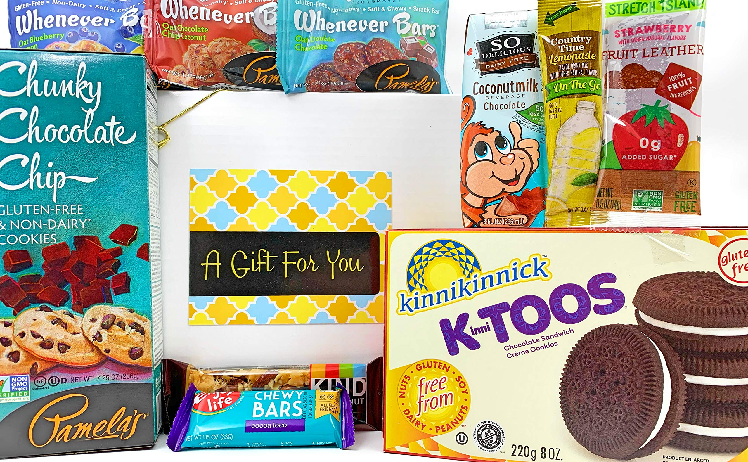 Gluten Free Dairy Free Prime Gift Box Basket - Yummy Treats - Almost 2.5 Pounds - Birthday College Military Care Package Get Well Christmas Valentine's Easter Mother's Day Father's Day