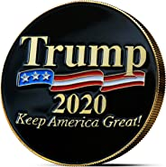 innoGadgets Trump Coin 2020 - Gold Plated Collectable Coin and Case - Black (Black, Trump Coin)