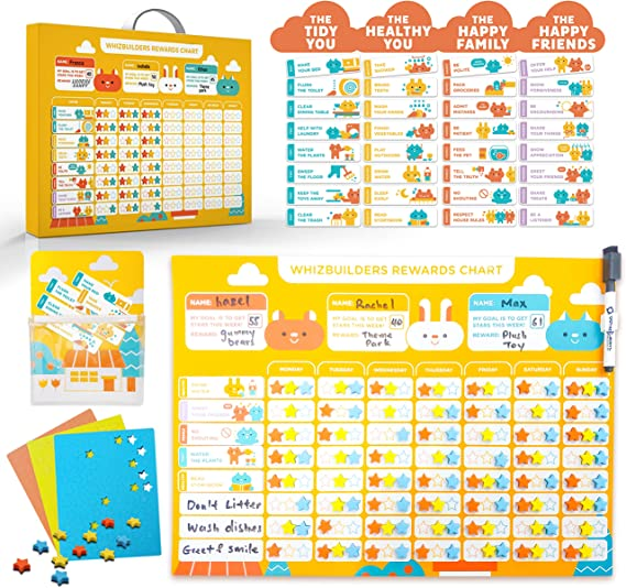 Star Reward Chart For kids Daily Routine Chores MAGNETIC Space Themed Encourage Good Behaviour