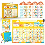 Behavior Chore Reward Star Chart : Multiple Kids Toddlers Age, Magnetic Visual Responsibility Potty Training Calendar Schedul