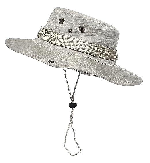 Jemis Men s Boonie Hat Bucket Hat (Beige) at Amazon Men s Clothing ... cbdd21299bd