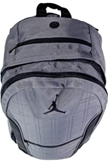 c03185d5efdfa9 Amazon.com  Nike AIR JORDAN Backpack ISO Pack (Black Silver)  Clothing