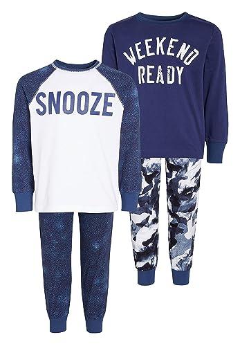 next Niños Pack De Dos Pijamas De Camuflaje con Eslogan (3-16 Años) Azul Marino 16 Years: Amazon.es: Ropa y accesorios