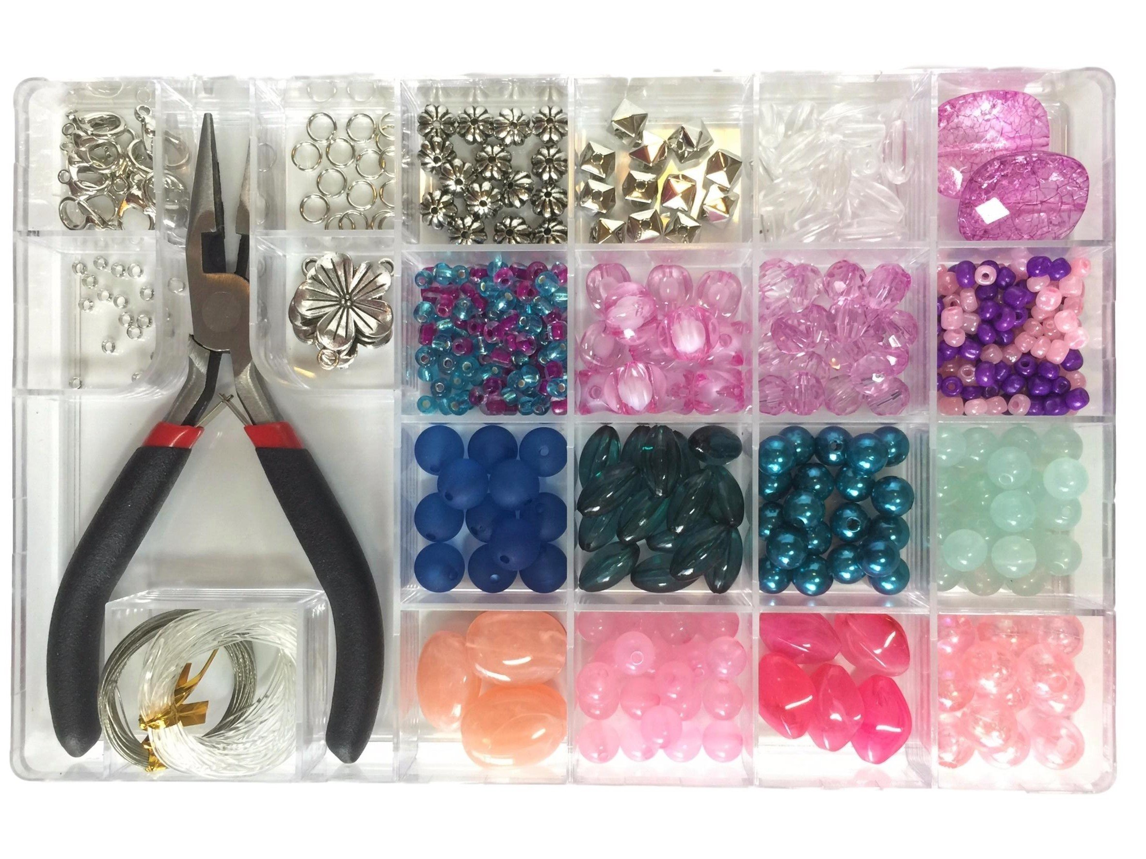 Jewelry Making Kit- Everything Included it This Beginners Jewelry kit. Girls and Teens Will Love Exploring Their Creativity! Directions Included with This Fun Girl's Bead kit. by Flying K