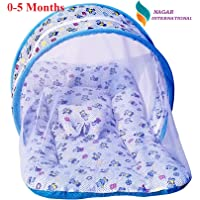 Nagar International Baby Luxury and High Quality Bedding Mattress Set with Mosquito Net in Cotton Fabric