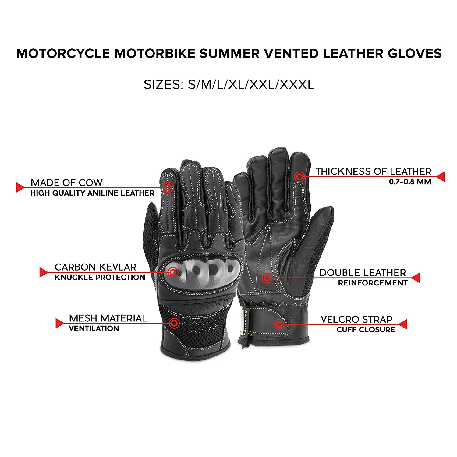 Motorcycle leather gloves amazon - Amazon Com Motero Man Leather Motorcycle Gloves Summer Full Finger Vented Adjustable Carbon Kevlar Knuckle Protectors Motorbike Accessories