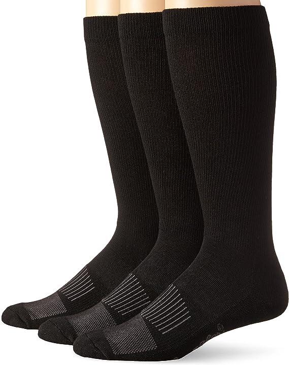 Wrangler Mens Western Boot Socks (Pack of 3), Black, Sock Size ...