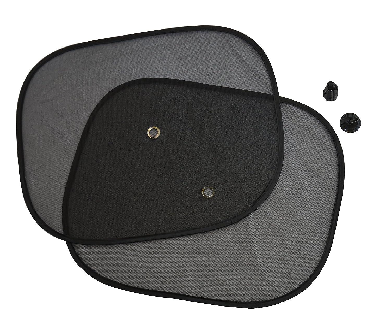 REINDEAR Car Side Rear Window Sunshade Sun Shade Cover Visor Shield Screen Black Mesh US Seller (2 Pcs Side)