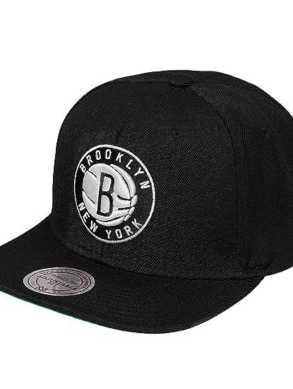 81083f23b0c Mitchell   Ness Men Caps Snapback Cap Wool Solid Brooklyn Nets black  Adjustable