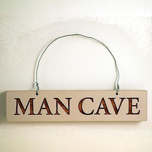 Angelic Hen Man Cave cartel de madera - para el hombre de ...