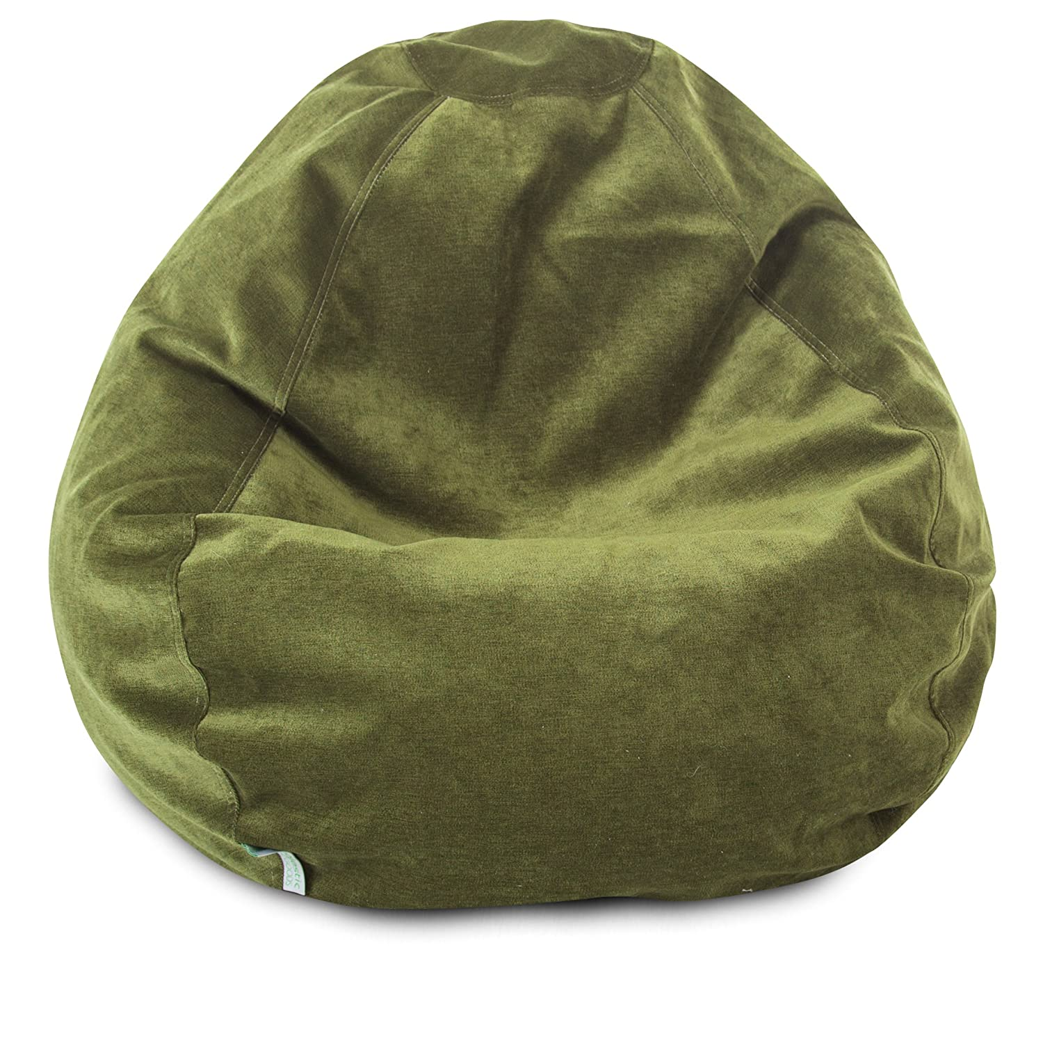Majestic Home Goods Classic Bean Bag Chair - Villa Giant Classic Bean Bags for Small Adults and Kids (28 x 28 x 22 Inches) (Apple Green) 85907264030