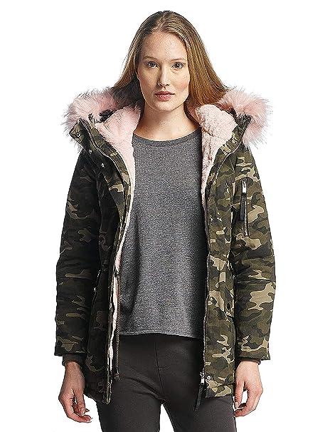 Sixth June Mujeres Chaquetas / Chaqueta de invierno Oversize With Fake Fur Hood