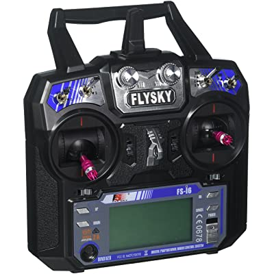 GoolRC Flysky FS-i6 AFHDS 2A 2.4GHz 6CH Radio System Transmitter for RC Helicopter Glider with FS-iA6 Receiver: Toys & Games