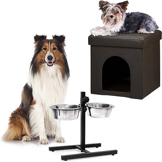 2 piezas Set Home Sweet perro Deluxe L, perros Caja Marrón ...