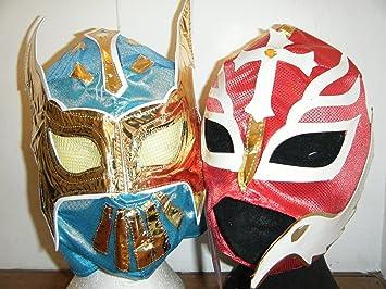 ASHLEYS sin cara máscara y Rojo Rey Mysterio Máscara