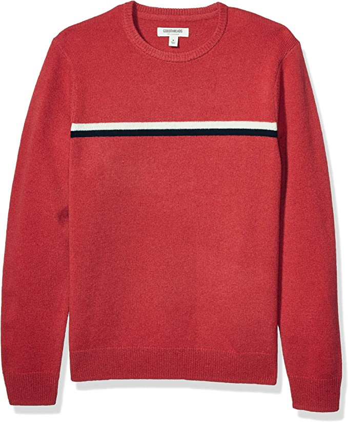 Men's Vintage Sweaters, Retro Jumpers 1920s to 1980s Goodthreads Mens Lambswool Crewneck Sweater £39.99 AT vintagedancer.com