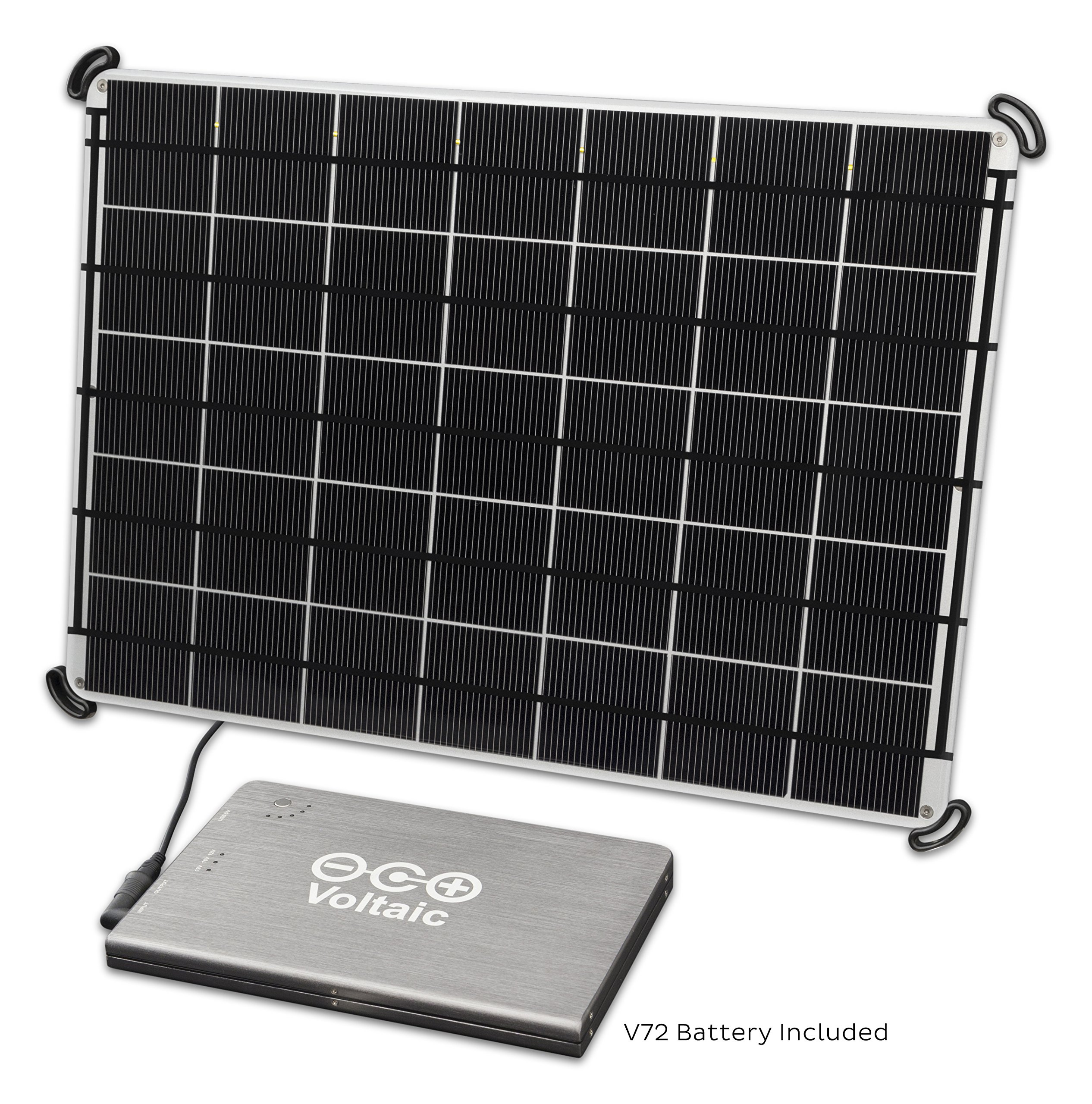 Voltaic Systems 17 Watt Rapid Solar Panel Charger for Laptops (Including MacBooks with an Adapter) | Includes a Battery Pack (Power Bank) and 2 Year Warranty - Silver by Voltaic Systems