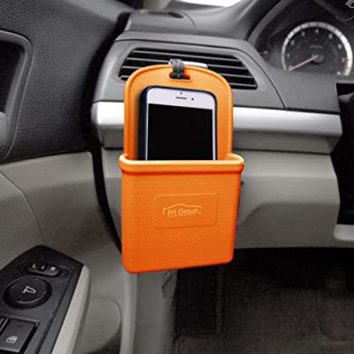 FH Group FH3022ORANGE Orange Silicone Car Vent Mounted Phone Holder (Smartphone works with IPhone Plus Galaxy Note Orange Color): Automotive