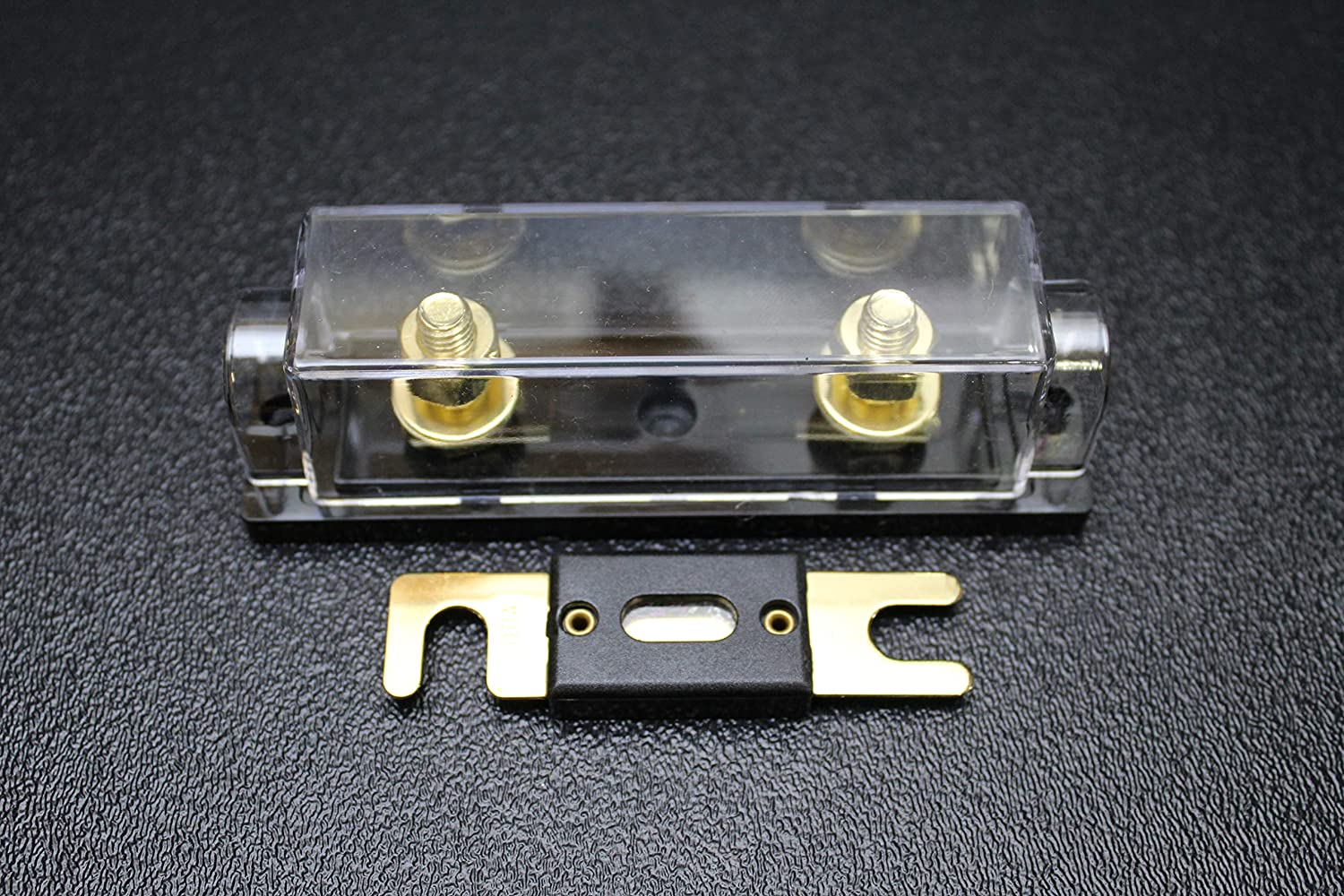1 Pack 0 2 4 6 8 Gauge ANL Fuse Holder W// 500 AMP Gold Wafer FUSES Wire 1