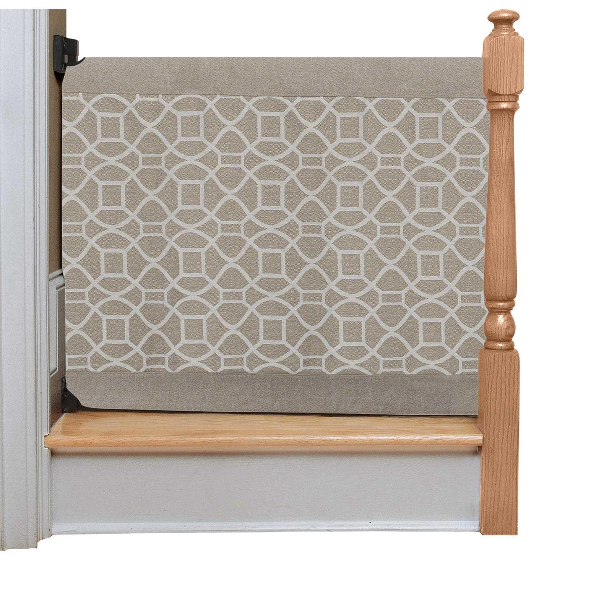 The Stair Barrier Wall to Banister Gate, Beige Geo, Regular by The Stair Barrier